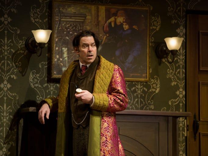 Brik Berkes as Sherlock Holmes. Dress rehearsal on