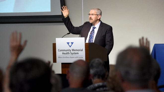 Dr. Jim Hornstein will moderate a Community Memorial Health System program Thursday on life's joys and challenges.