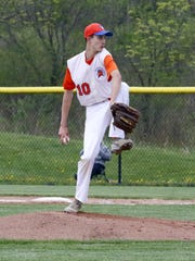 Nate Chorney delivers a pitch for Edison in a 2-1 win