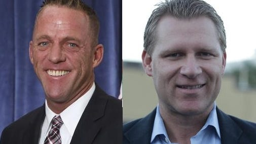 Democratic challenger Greg Rodriguez, left, and Republican incumbent Chad Mayes are vying for the 42nd Assembly District, which includes all of Coachella Valley, part of western Riverside County, the San Gorgonio Pass and the hi-desert.