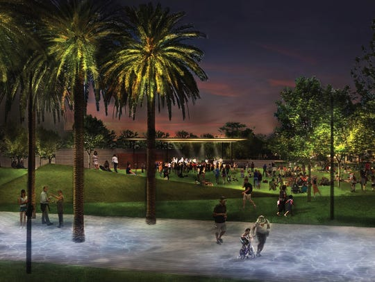 A rendering shows updates to Margaret T. Hance Park