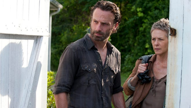 Rick Grimes (Andrew Lincoln) and Carol (Melissa Suzanne McBride) in AMC's 'The Walking Dead.'