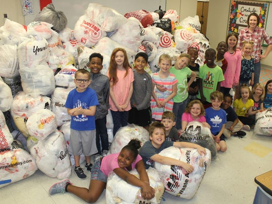 Olmsted Elementary second graders helped in the collection