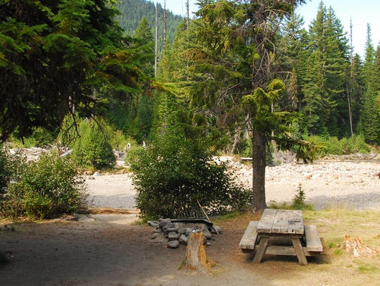 Nottingham Campground is along the East Fork Hood River.