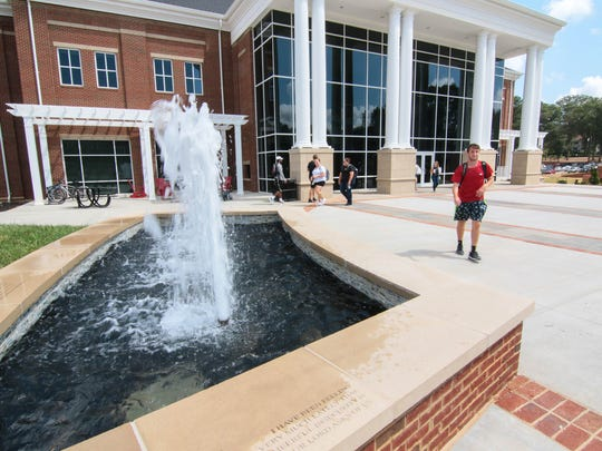 Students walk around the G. Ross Anderson Jr. Student Center in Anderson, which opened in September.