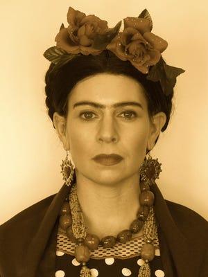 Jessica Crum Hawkins as Frida Kahlo.
