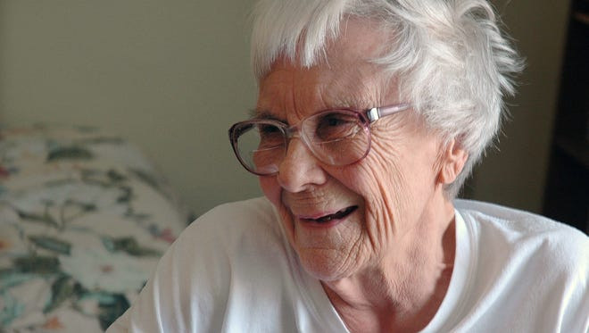 "Author Harper Lee in her assisted living room in Montoeville, Ala. on May 19, 2010. Friends and fans of the ""To Kill A Mockingbird"" author are having trouble reconciling a publisher's Tuesday, Feb 3, 2015 announcement that her decades-old manuscript for a sequel has been rediscovered and will be released."