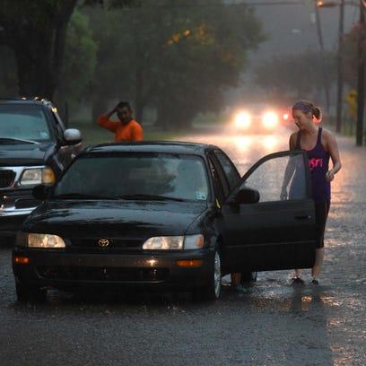 Motorists sit stranded on Beverly Place in Shreveport