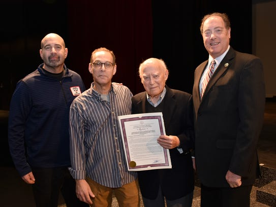Union County Freeholder Bruce H. Bergen presents Robert
