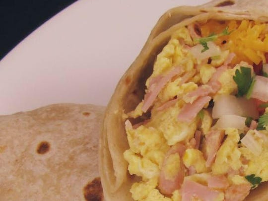 The breakfast burrito at Lina's Mexican Restaurant.