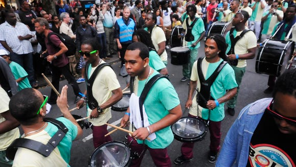 Drum Bands fire up the crowds during Battle of the