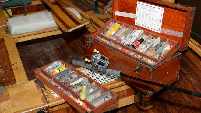 """Patrick Durkin inherited his grandfather's fishing tackle after """"the Old Man"""" died in May 1990."""