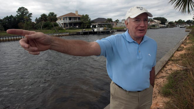 Santa Rosa Shores resident Jeff Pate, who is chairman of the homeowners' association's 12-member canal committee, wants to dredge channels connecting the neighborhood to Santa Rosa Sound for easier boat access. The committee proposes transplanting the seagrasses currently in the channels.