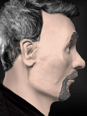 This is a 3-D rendering by police of the man whose body was found nearly a year ago in Brownstown Township.