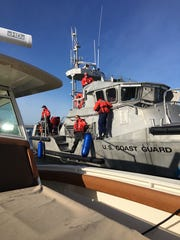Coast Guard rescuers boarded Lady Eloise