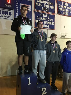 North Buncombe's Peter Simonovich was the 195-pound champion at last weekend's Falcon Frenzy tournament in Hendersonville.