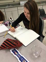 Liz Leonard, a Harrison junior, has earned Honorable Mention in two art categories.