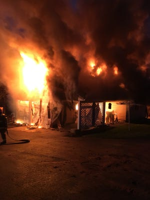 A fire broke out at a garage in West Manchester Township on Thursday night, officials said.
