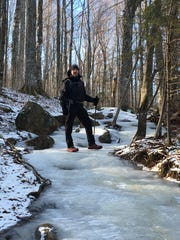 Dave Clark climbing the Adirondacks.