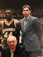James Wright, left, played for Port Clinton coach Von