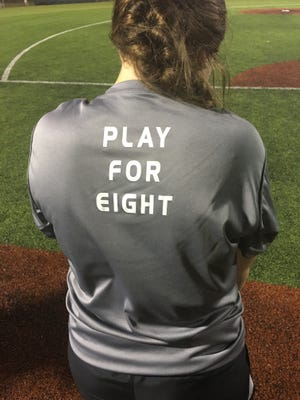 Play for Eight became the slogan for the Kaplan Lady Pirates after their teammate Emma Broussard was injured in a four-wheeler accident.