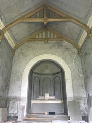 The chapel was used for prayer but never served as a church.