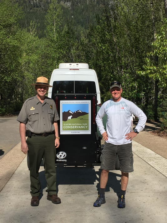 Eric and Mark with Hiker-Biker Shuttle