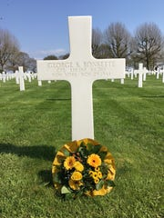 George Ronkette's headstone in a Netherlands cemetery.