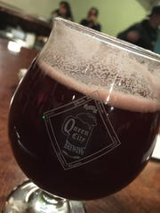 A tulip of beer from Queen City Brewing in Staunton.