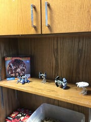 Nob Hill principal Jeremy Green returned to his office Monday to find that PAC members had festooned it with Star Wars memorabilia. Green is a big fan of The Force.