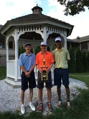 Spackenkill's Erik Stauderman won the Dutchess County Coaches Invitational golf tournament at McCann Memorial Golf Course on Tuesday. Teammates Stanley Garrant (right) and Ryan Ackert (left) took second and third.