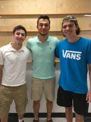 Jason Carlo, 17, Ramsey Othman, 17, and Andrew Mazur, 16, all juniors at Bridgewater Raritan High School, helped save a lost dog over Memorial Day weekend.