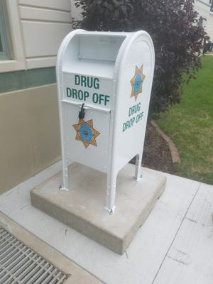 This drug drop-off box offers Iowa County residents a way to safely dispose of unwanted, unneeded and expired prescription drugs.