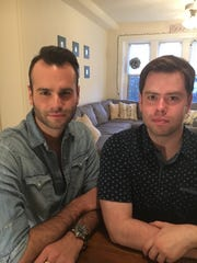 Ryan Duncan, 25, left, and John Welch, 28, right, both