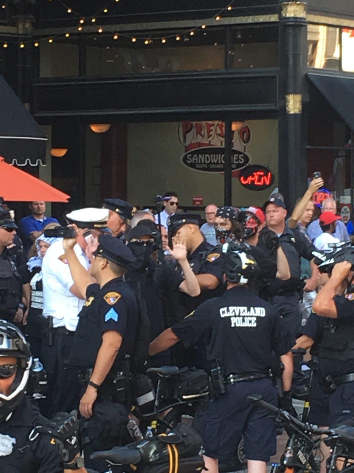Protestors at the RNC