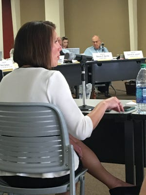 State Director of Tourism Rebecca Latham addresses legislator Wednesday in the first day of a three-day Legislative Finance Committee meeting held in Ruidoso at ENMU.