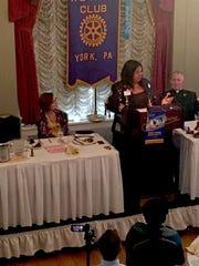 Shavonnia Corbin-Johnson addresses the Rotary Club