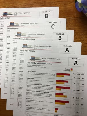 All but one of Ruidoso's schools upped their grades from last year's PED evaluations.