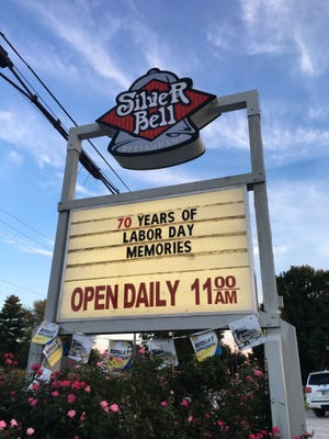The Silver Bell marquee advertised the reunion.