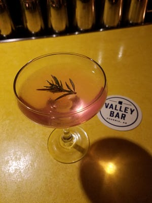 """""""The Rose"""" Mofford is a specialty cocktail offered by Valley Bar in Phoenix."""