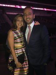 Dr. Mia Hindi and husband Dr. Samer Schuman smile during the gala.