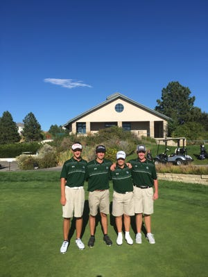 The Fossil Ridge High School boys golf team won the Class 5A Northern Regional on Monday, qualifying for state as a team.