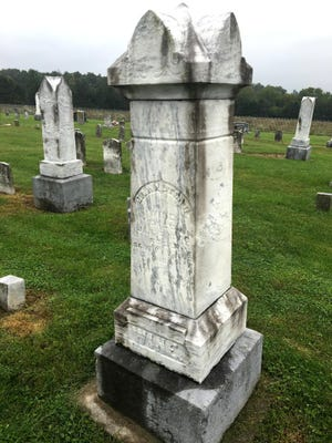 Dr. Walter Wine's headstone in Middle River Church Cemetery near Piedmont.