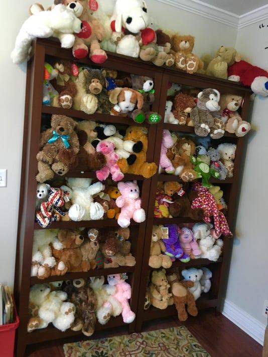 Teddy Bear Wall at Valerie s House.jpg