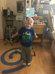 Kellen Weakley has shown his natural joyfulness despite his struggle with cancer, his parents said.