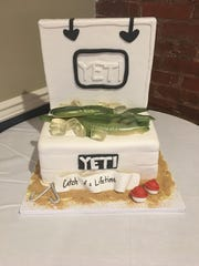 Stephanie Rutkowski created a custom groom's cake for C.J. Walus.