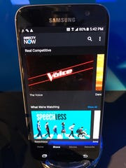 DirecTV Now shown on a Samsung smartphone.