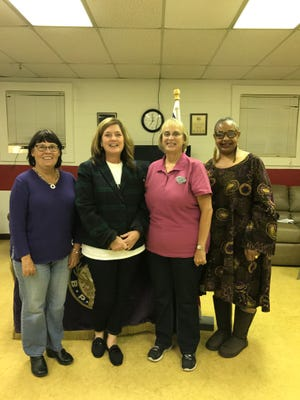 Shown from left are Margaret Miller, Leading Knight; Tammy Willmore, United Way Director of Volunteer Services; Jody Patterson, Exalted Ruler and Eleanor Leverette, lodge member.