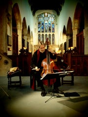 Jordi Savall plays the viola da gamba, a stringed instrument