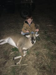 Judd Byrd, 8, of Purvis hunted with his dad, Mike, and downed this dandy, 200-pound, 6-point buck recently.